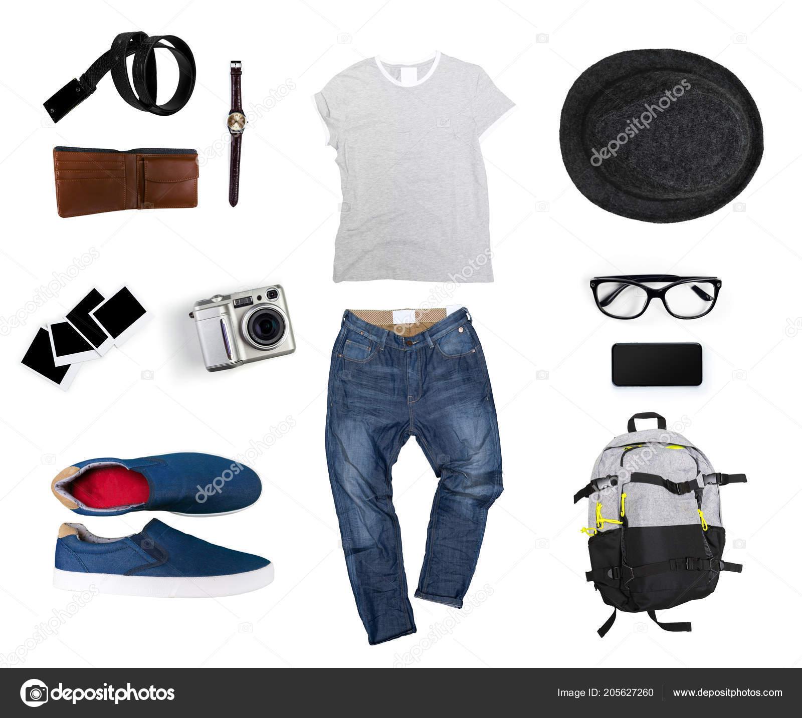 bf14c86cd9 Κολάζ Από Αντρικά Ρούχα Απομονωμένη Λευκό Φόντο — Φωτογραφία Αρχείου ...
