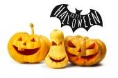 Halloween dýně izolovaných na bílém pozadí