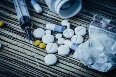 Drug addiction or drug abuse concept