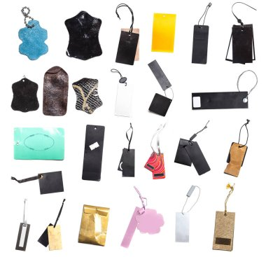 set of the blank tags tied with string