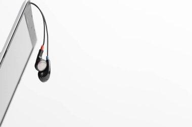 Music concept - Headphones over laptop