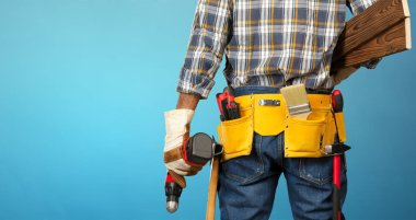 Male Construction Worker with tools