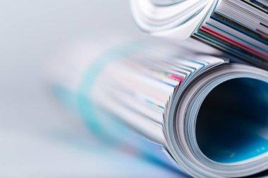 magazines close up view