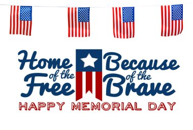 Memorial Day concept with flag, holiday