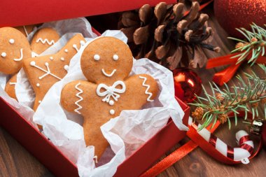 Christmas homemade gingerbread man cookies