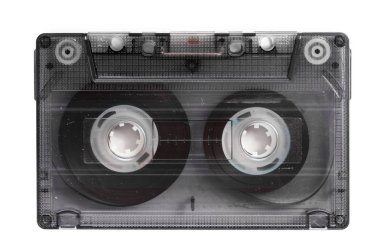 music audio tape isolated on white background