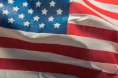 Fotografie Closeup of ruffled American flag