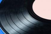 retro vinyl záznam na modrém pozadí