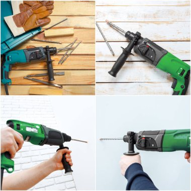 hammer drill on background,close up