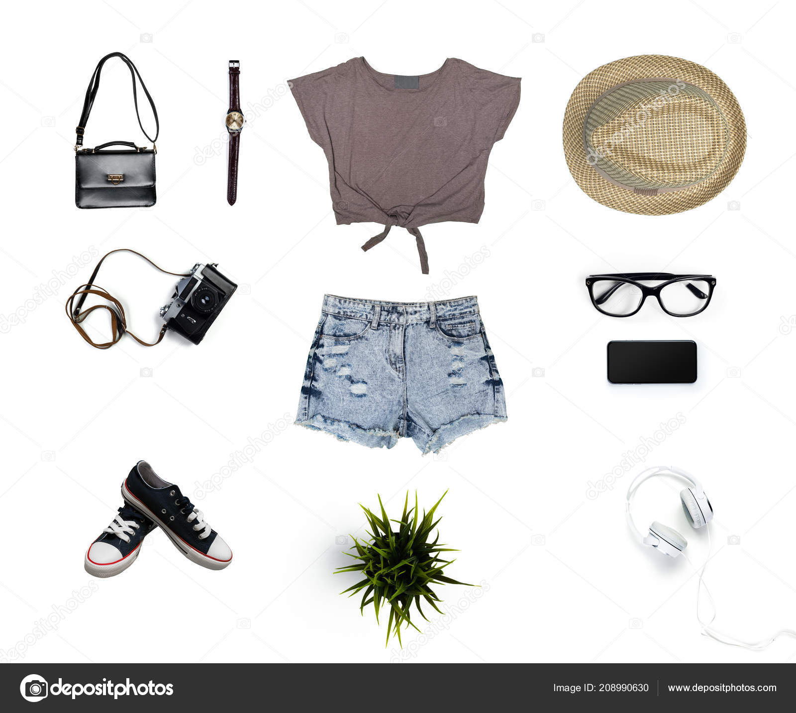 87099a2bdb2 Κολάζ Γυναικεία Ρούχα Που Απομονώνονται Λευκό Φόντο — Φωτογραφία ...