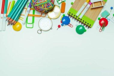 School office supplies, back to school concept