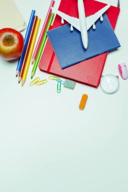 School office supplies, back to school concept