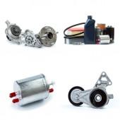 Fotografie různé náhradní díly potřebné pro servis vozidel