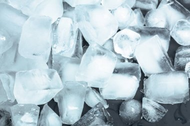 Ice cubes on background,close up