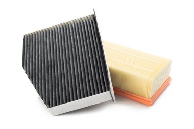air filter isolated on white background