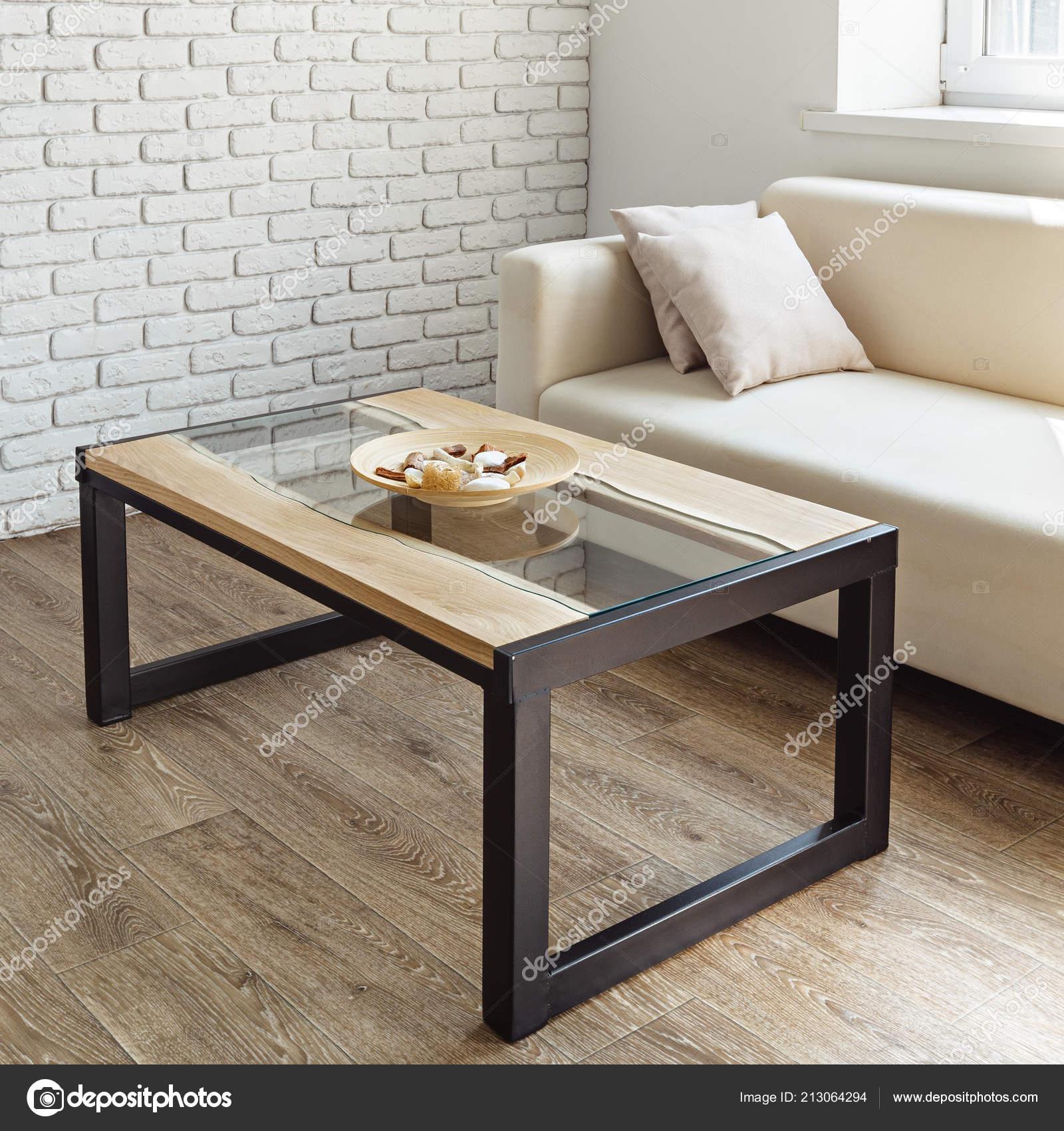Peachy Modern Wooden Table Stylish Loft Interior Stock Photo Inzonedesignstudio Interior Chair Design Inzonedesignstudiocom