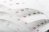 Fotografie Calendar pages close up business time concept