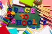 Photo Welcome Back To School Banner; School Supplies