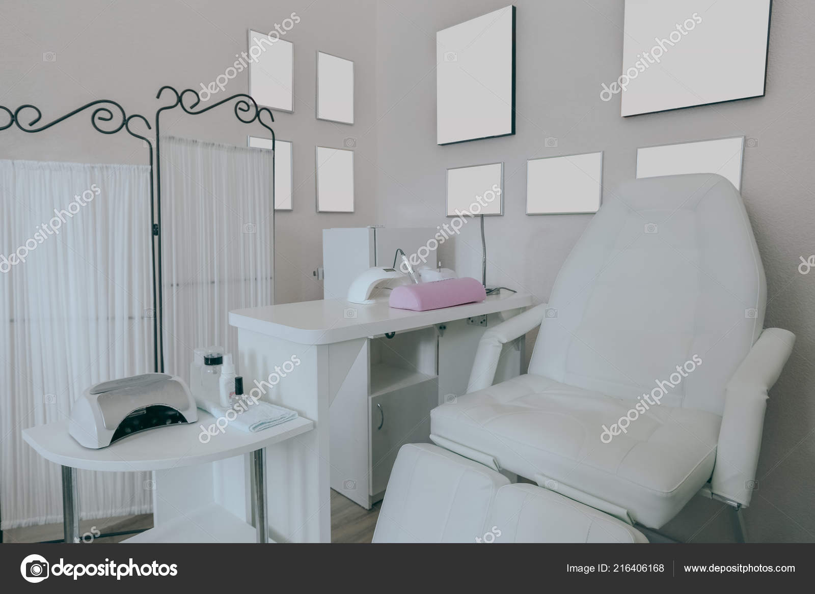 Interior Empty Modern Nail Salon Stock Photo C Fotofabrika 216406168