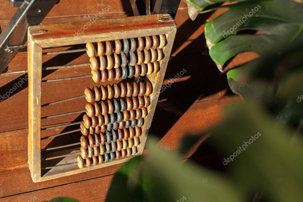 education, abacus close up