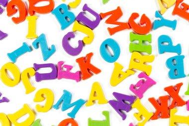 colorful toy alphabet letters, education concept