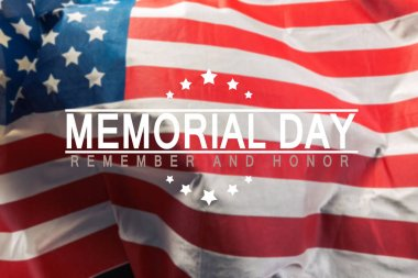 memorial day background with american flag