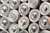 Photo close up of  used Batteries background