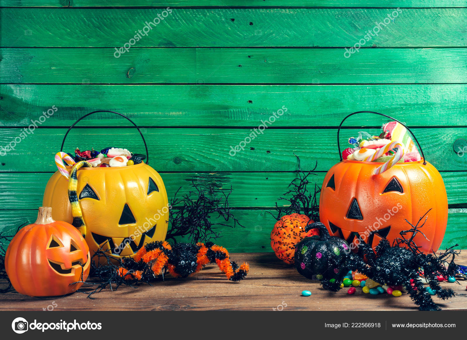 Happy Halloween Pumpkin Candy Home Stock Photo C Fotofabrika 222566918