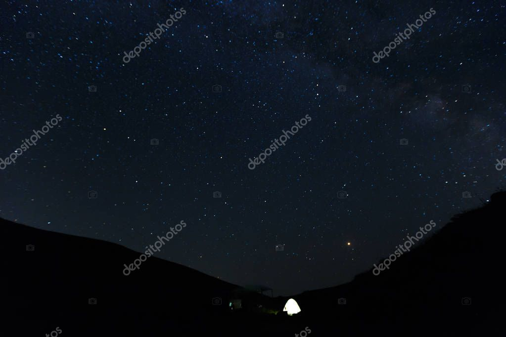 Stunning beautiful Night sky with stars background