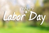 Fotografie Happy Labor day banner, american patriotic background