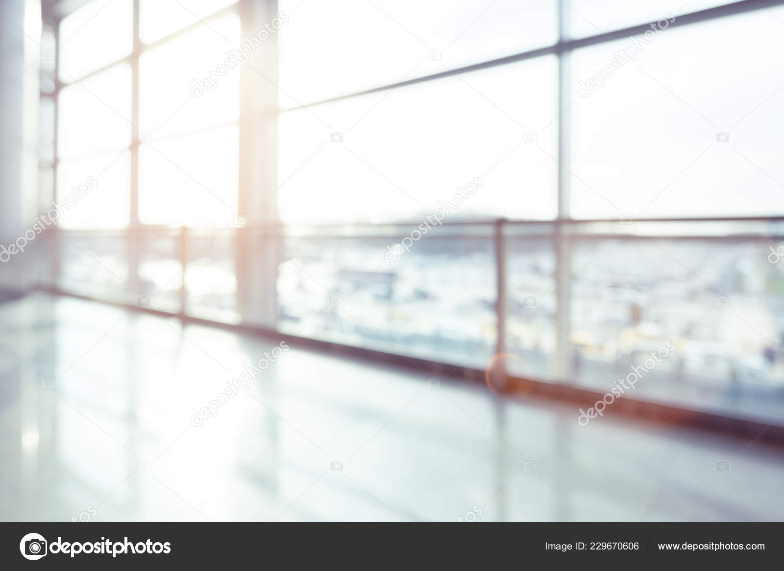 Abstract Blur Shot Airport Background — Stock Photo