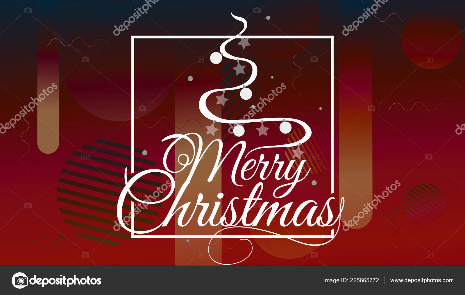 Have very Merry Christmas and Happy New Year we wish you lettering logo on gradient background