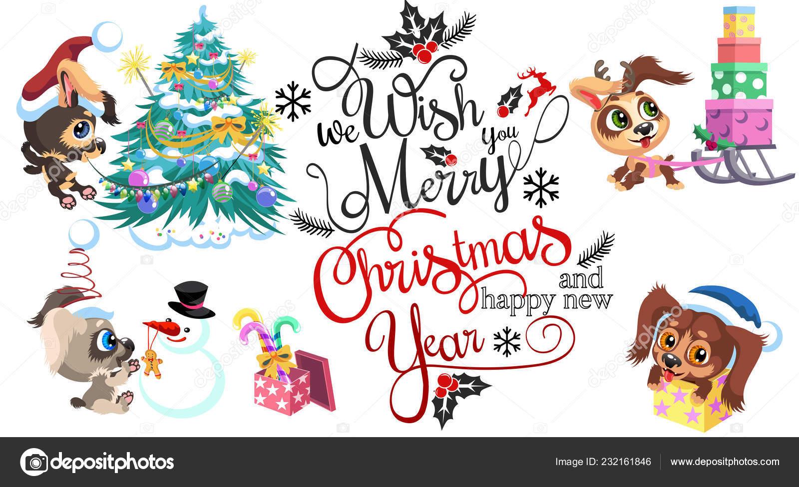 Desenhos Animados Sinal Que Desejamos Feliz Natal E Feliz Ano Novo