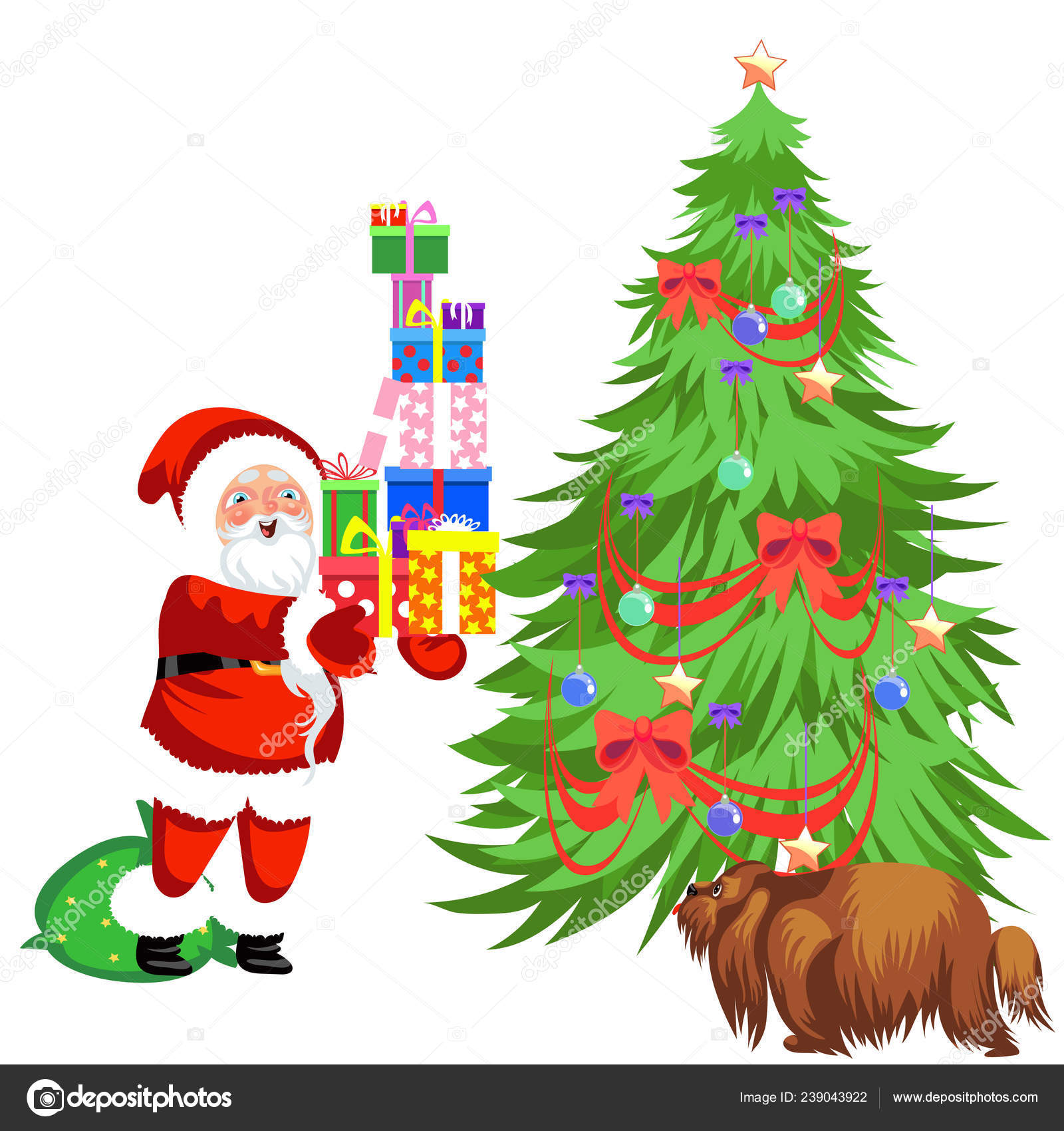 Cartoon Santa Claus Putting Presents Under Christmas Tree Stock Vector C Anutaberg 239043922 I'd be surrpised if it could yield one pound of fruit tree cartoon 19 of 26. cartoon santa claus putting presents under christmas tree stock vector c anutaberg 239043922