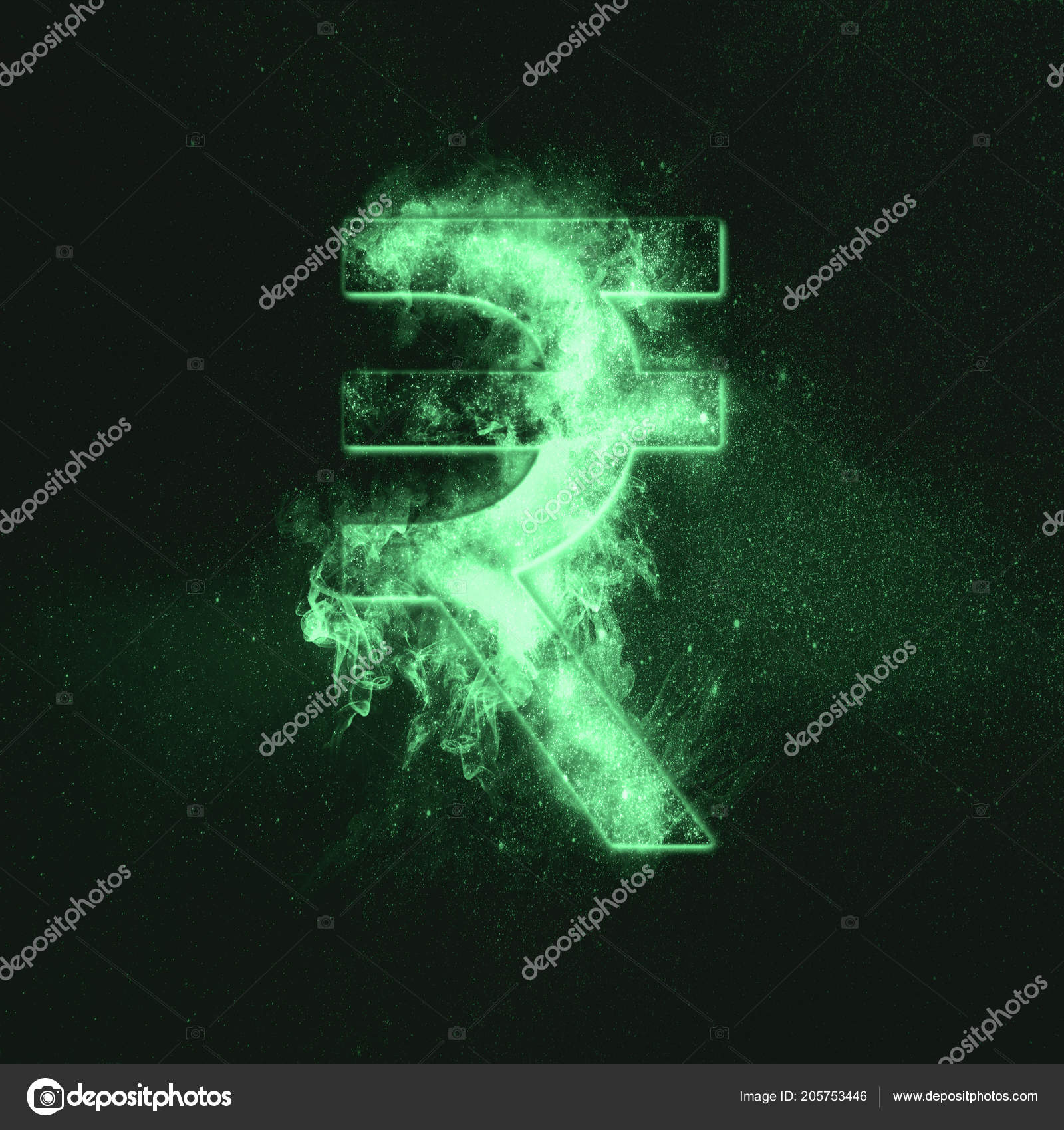Indian Rupee Sign Indian Rupee Symbol Monetary Currency Symbol Green