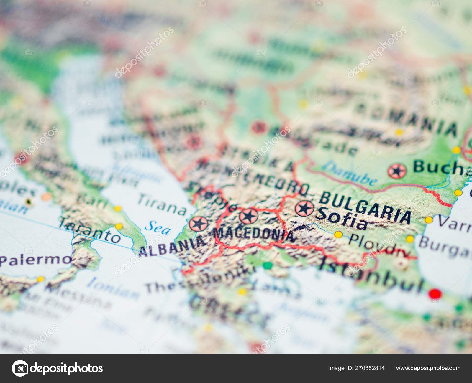Picture of: World Map With Focus On Bulgaria Country With Capital City Sofia Stock Photo C Aksenovko 270852814