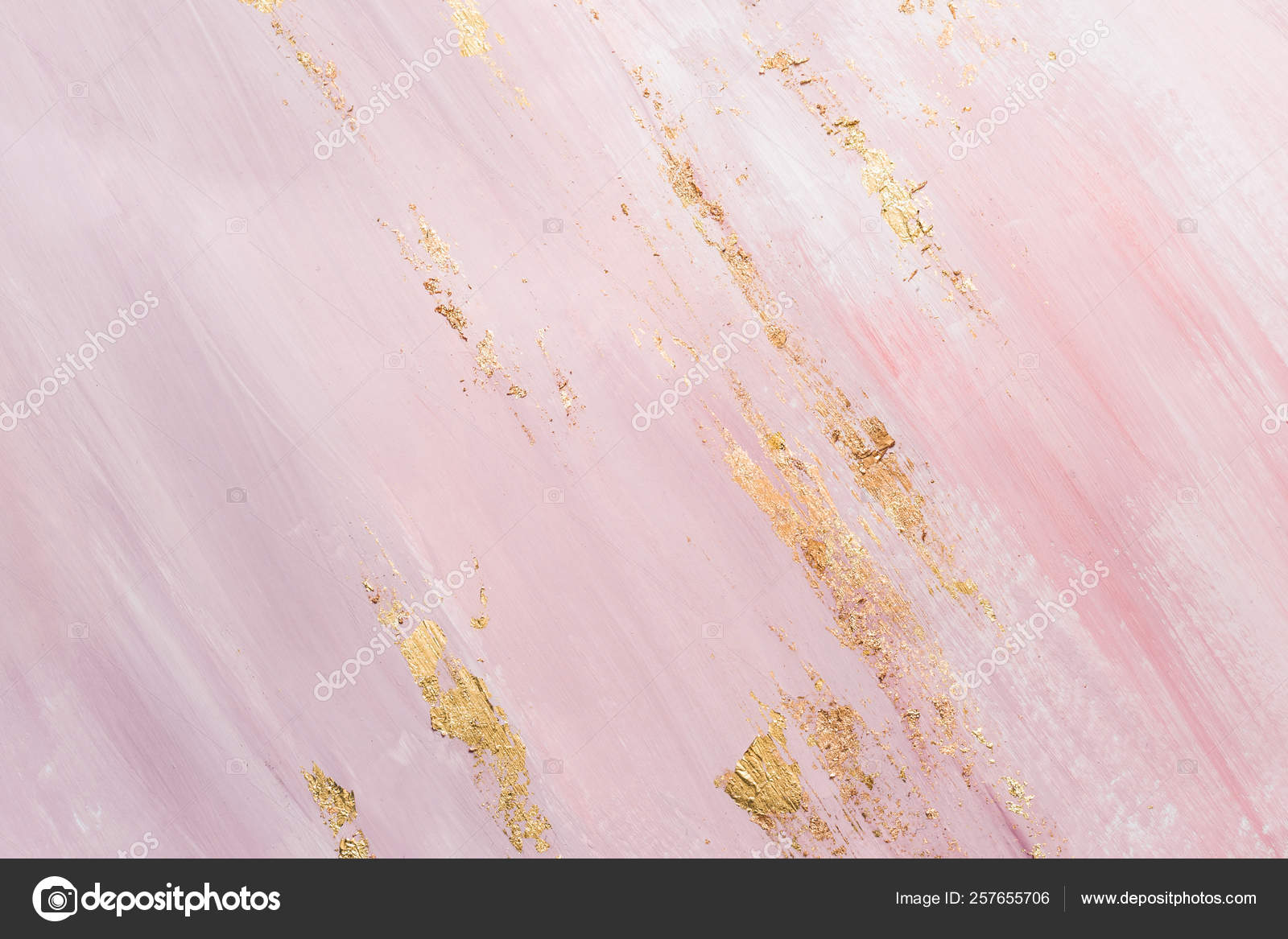 Delicate Pink Marble Background With Gold Brushstrokes Place For Your Design Stock Photo C Colnihko 257655706