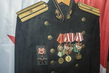 Medals  on uniform. Russian Veteran  uniform