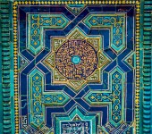 Fotografie Pattern, seamless. Golden crystals, weaving, arabesques. Gold arabesque, oriental style, abstract figure