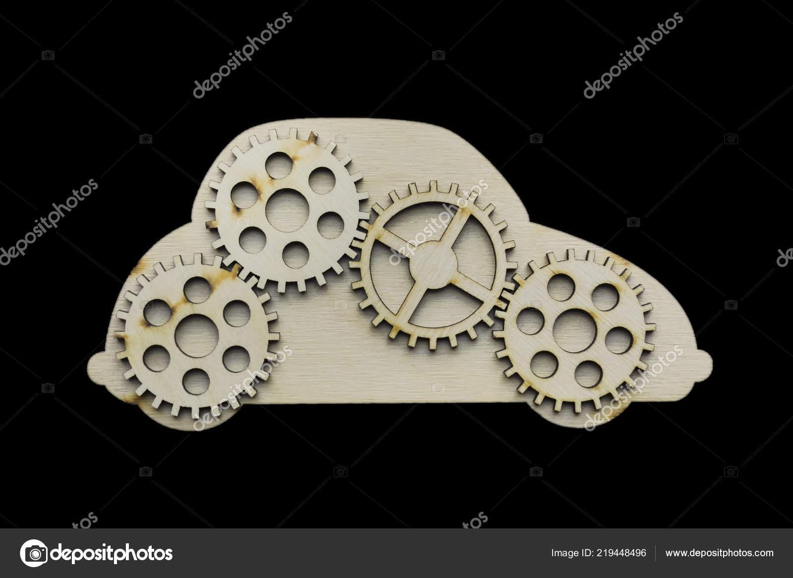 Coche De Engranajes Juguete — Cuatro © Foto Stock Borjomi88 Madera USMVqpz