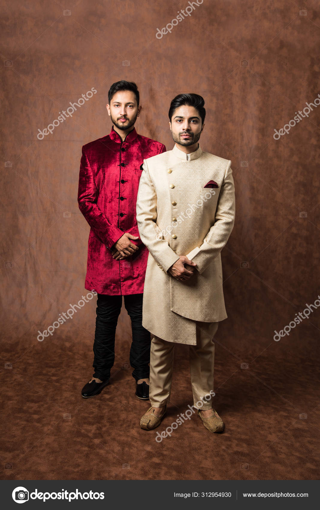 Two Indian Men Wears Ethnic Traditional Cloths Male Fashion Models Stock Photo C Stockimagefactory Com 312954930