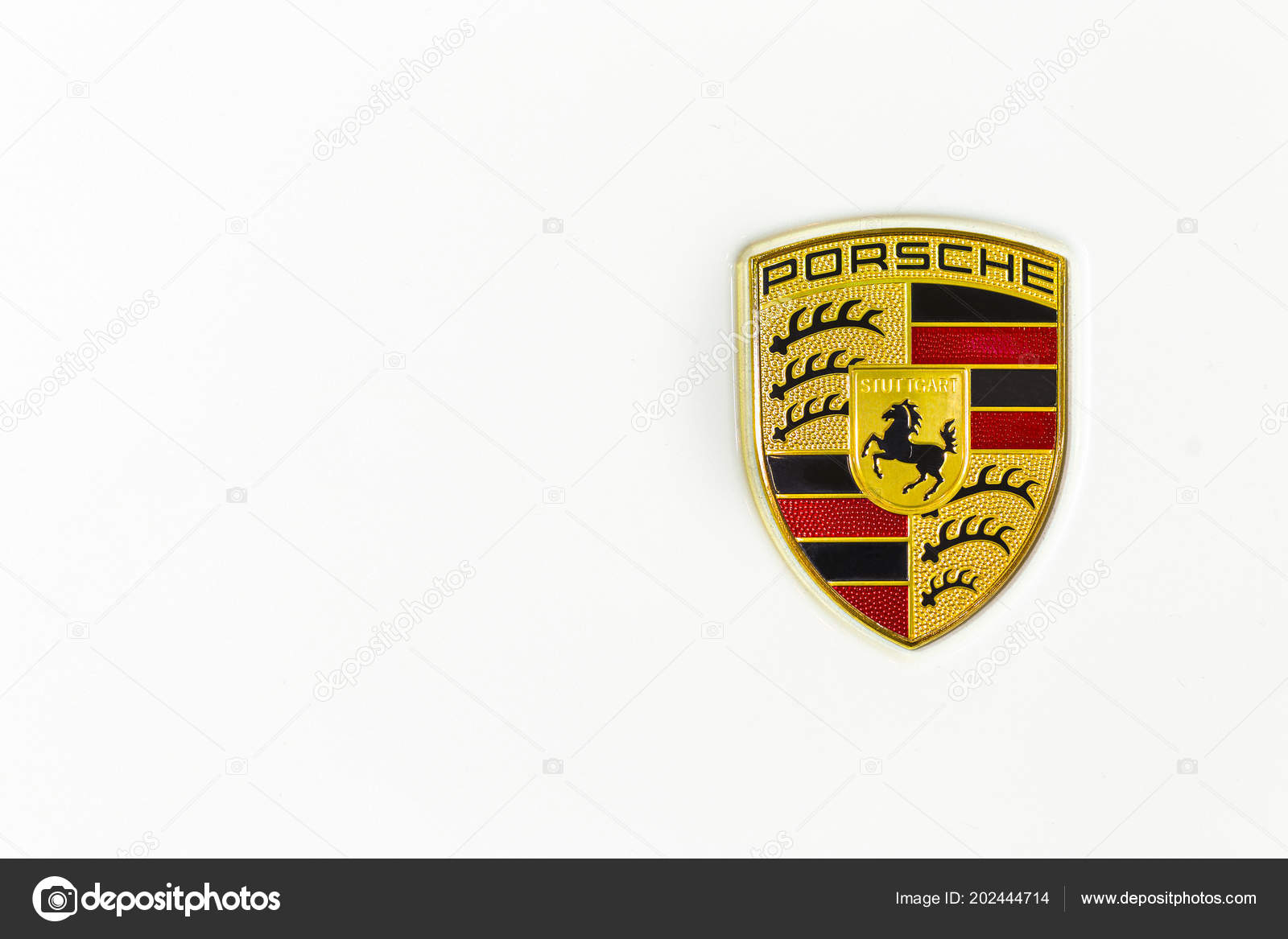 Chonburi Thailand August 2017 Porsche Car Logo Ferdinand Porsche Founded Stock Editorial Photo C Funfunphoto 202444714