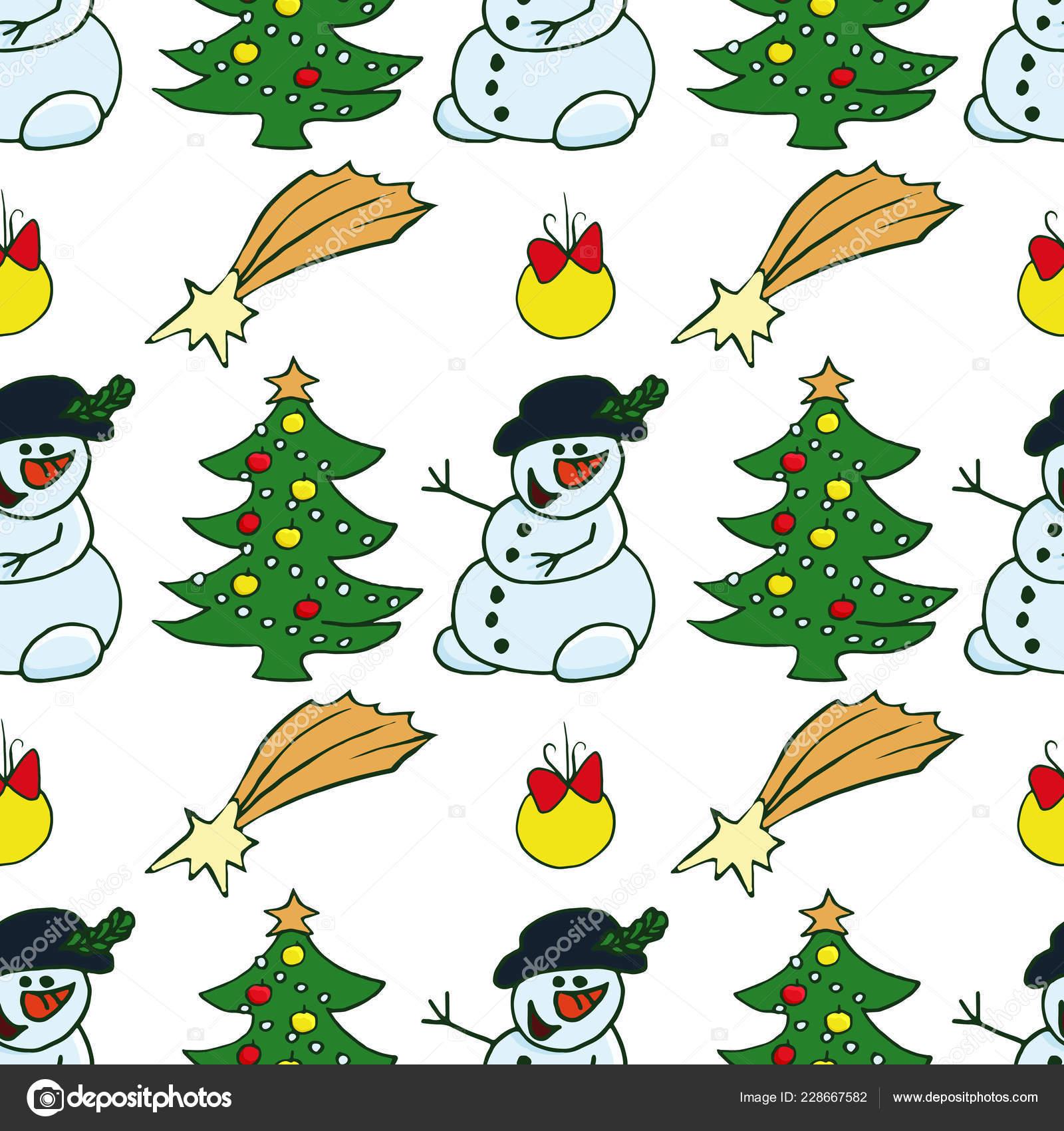 Papá Noel Árbol Navidad Bayas Acebo Muñeco Nieve Dulces Campanas ...