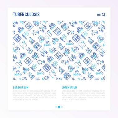 Tuberculosis concept with thin line icons