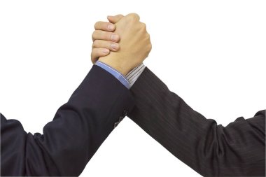 Business people join hand together during their meeting - commitment teamwork concept