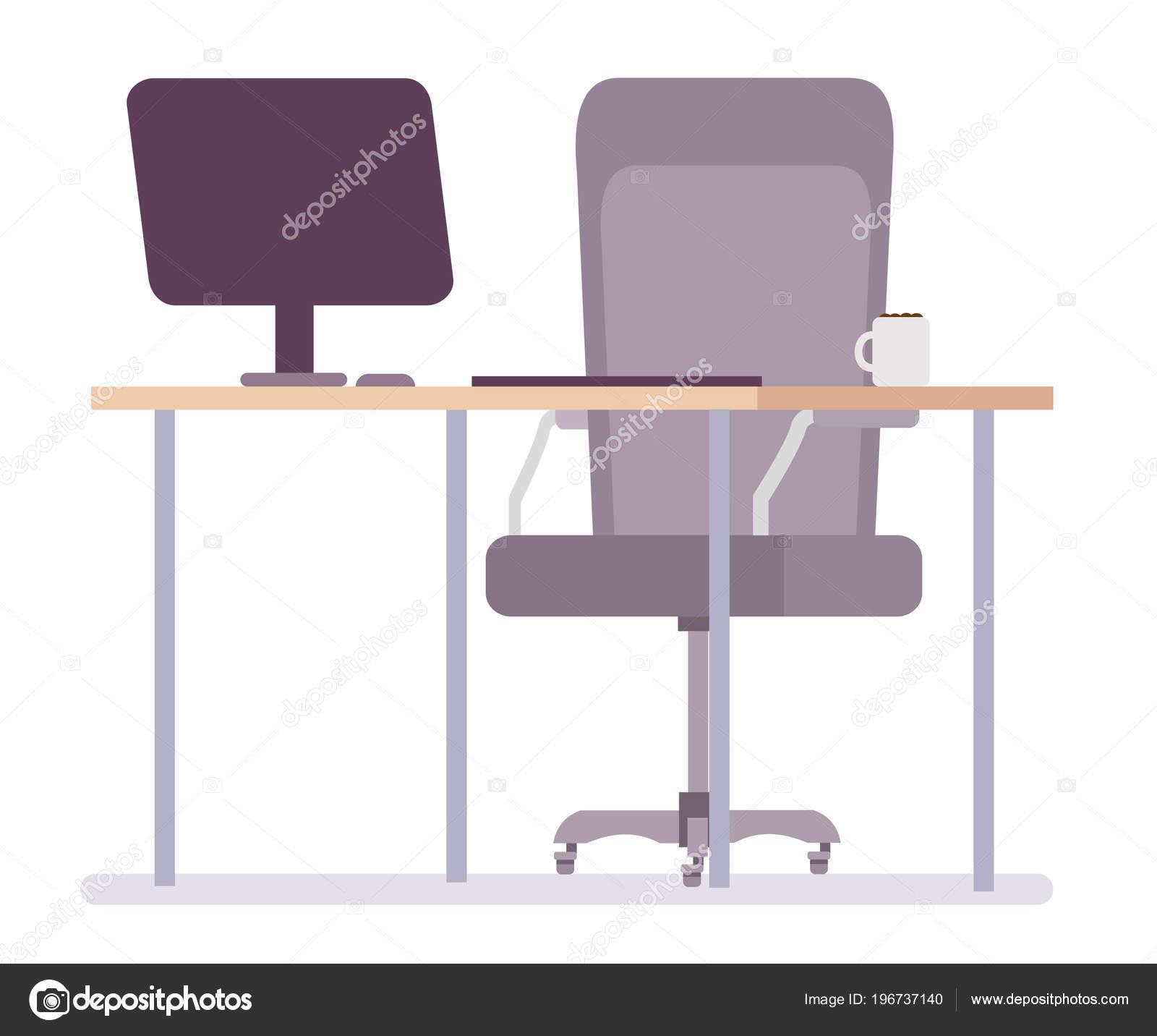 Chaise Bureau Illustration Conception Dessin Anim Vecteur Isol Sur Fond Image Vectorielle