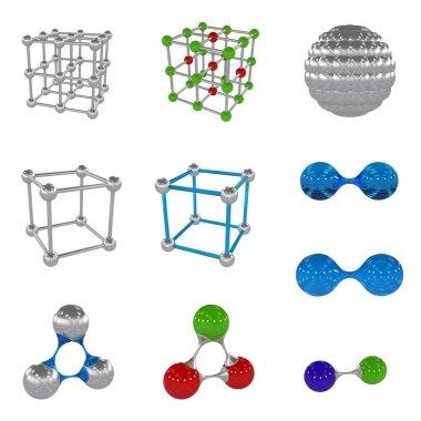 molecule, 3D illustration, 3D rendering