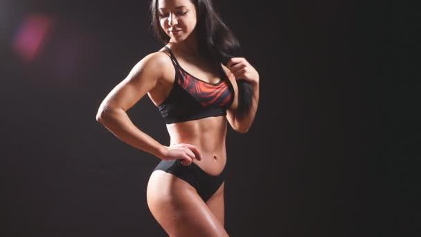 atraktivní fitness žena, ženského těla.