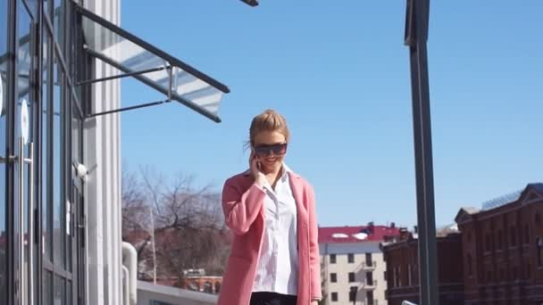 Female fashion. Street life. Modern lifestyle woman in sunglasses