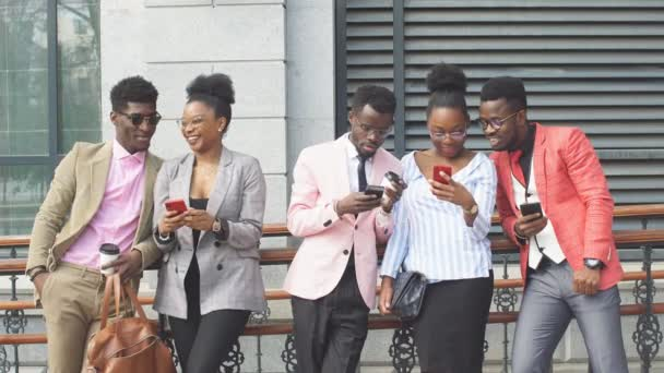 African people lead online business. Global network and modern device concept